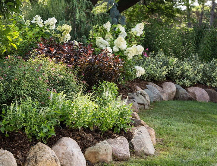 Bailey Nurseries rock edge landscape garden bed